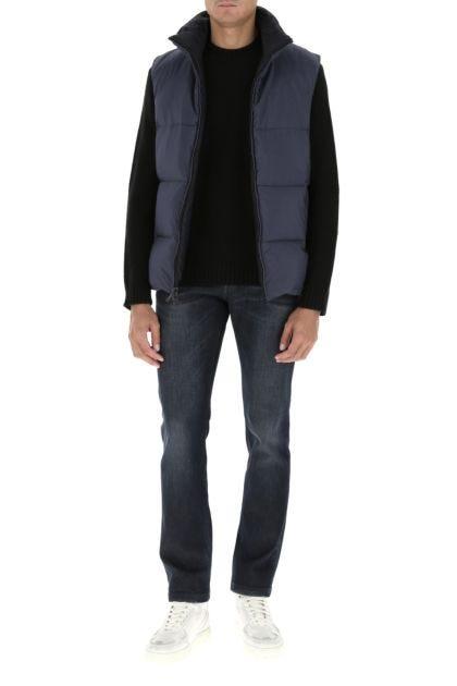 Printed nylon reversible down jacket