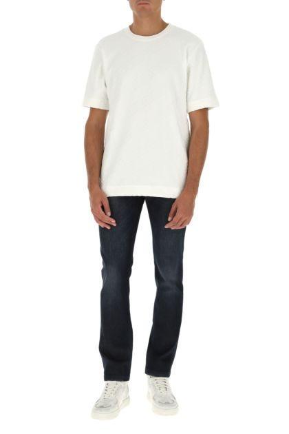 White chenille t-shirt