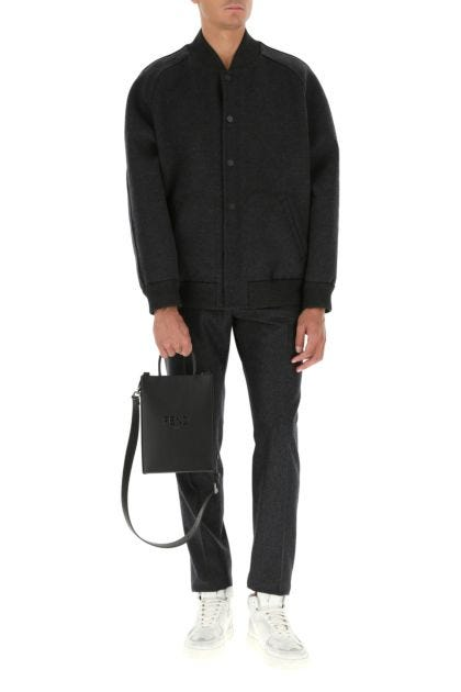 Black leather small handbag