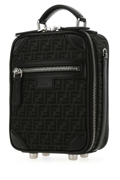 Embroidered canvas mini handbag