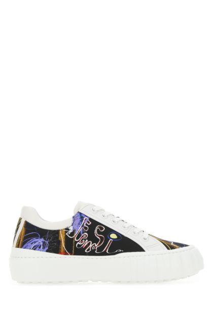 Printed nylon Fendi Force sneakers