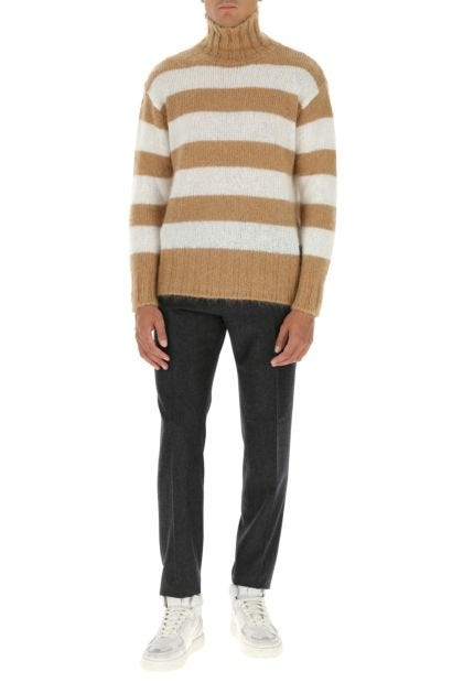 Embroidered mohair blend sweater