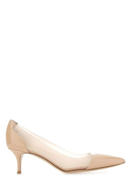 Skin pink leather and PVC Plexi 55 pumps