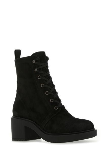 Black suede Foster boots