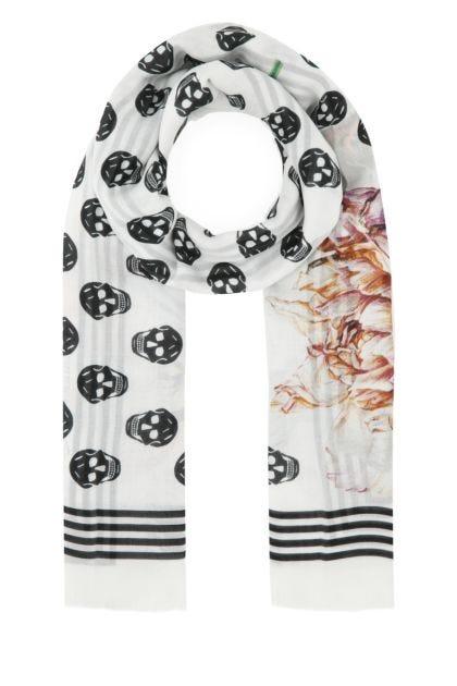 Printed modal foulard
