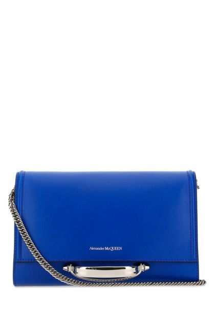 Electric blue leather The Story clutch