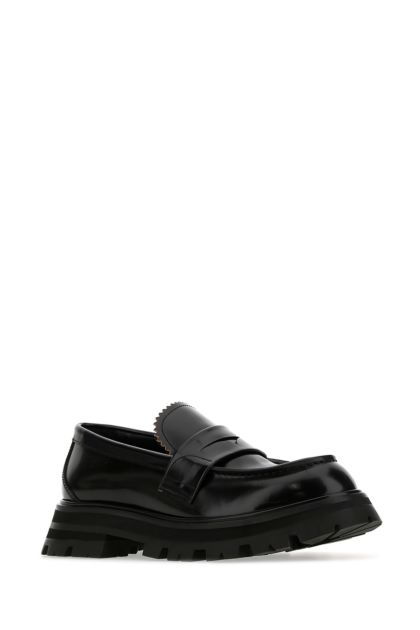 Black leather Wander loafers