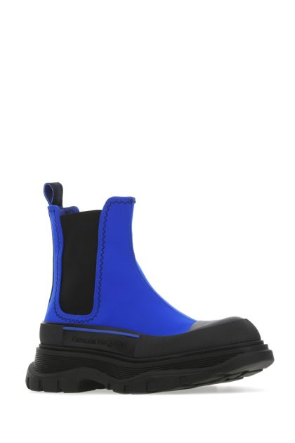 Two-tone fabric Tread Slick ankle boots