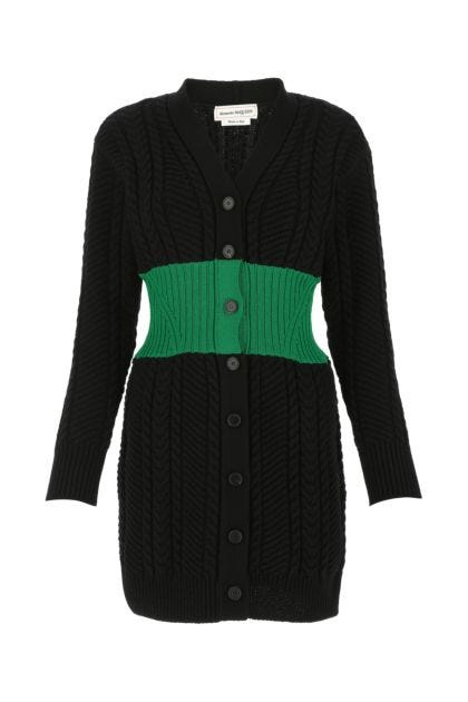 Black wool blend dress