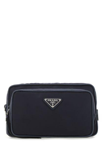Navy blue nylon belt bag