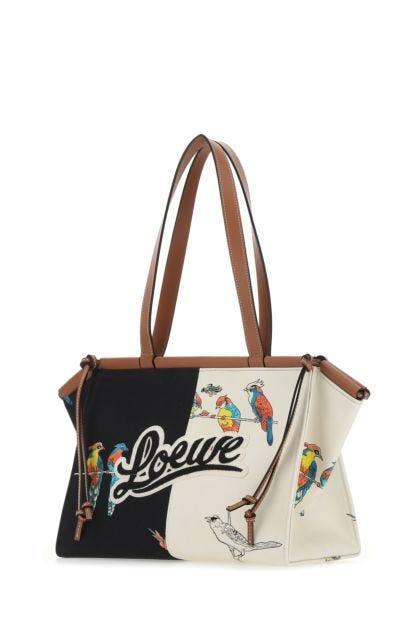 Printed canvas Paula's Ibiza small Cushion shoulder bag