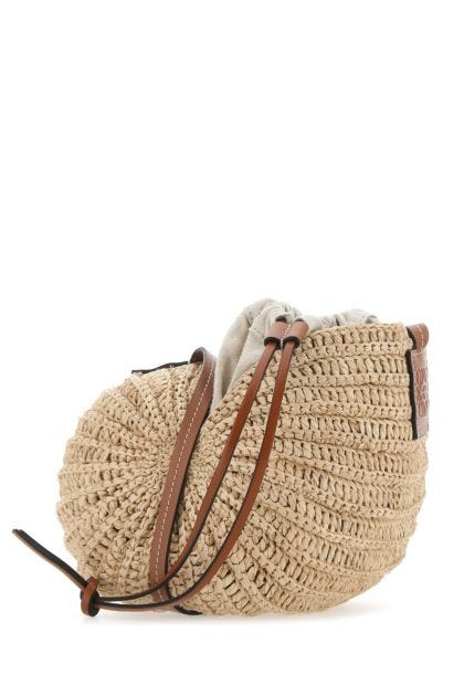 Raffia Moon Shell Paula's Ibiza crossbody bag