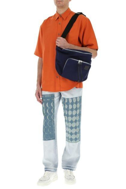 Blue canvas Paula's Ibiza XL belt bag