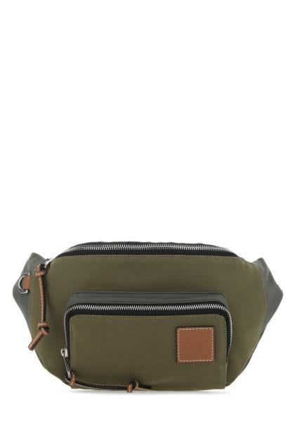 Two-tone canvas Paula's Ibiza belt bag