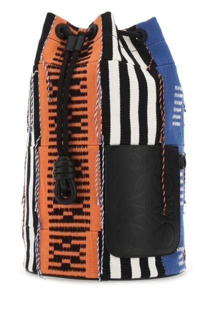 Multicolor fabric Paula's Ibiza bucket bag