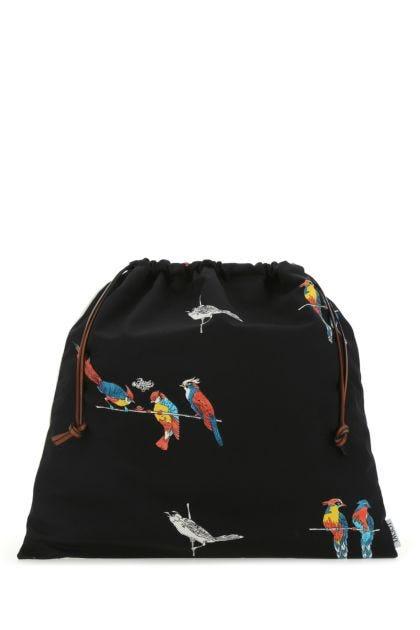 Printed canvas Paula's Ibiza Parrots pouch