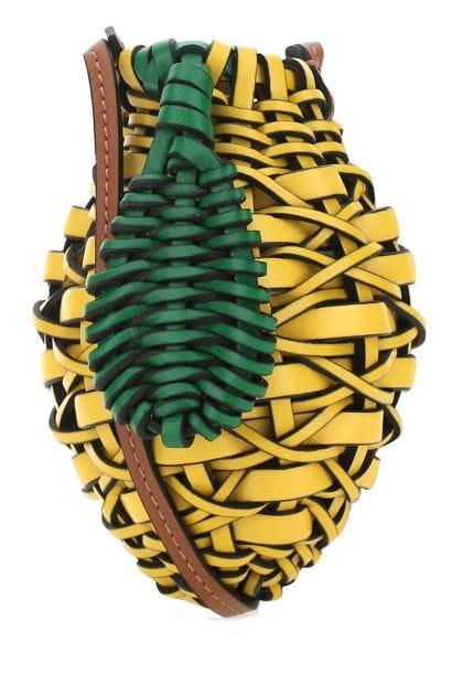 Multicolor leather Paula's Ibiza mini Lemon Pouch case