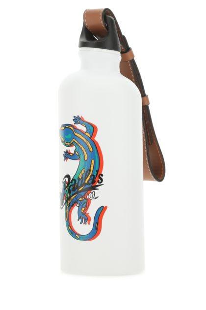 White aluminium Paula's Ibiza Lizard water bottle
