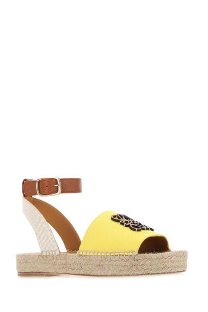 Multicolor canvas and leather Paula's Ibiza sandals