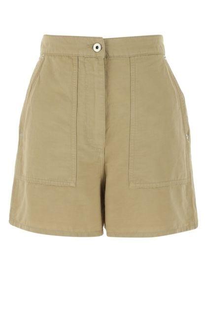 Khaki linen blend Paula's Ibiza shorts