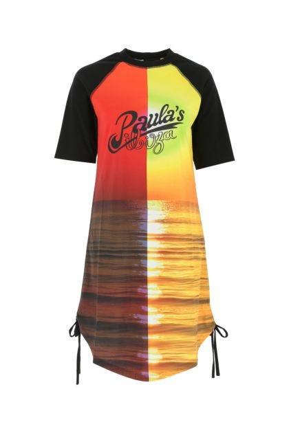 Printed cotton Paula's Ibiza t-shirt dress