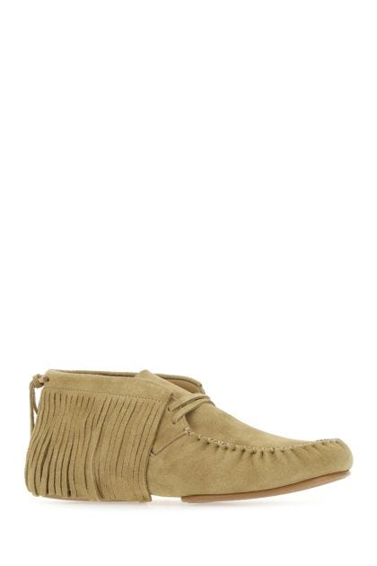 Beige suede Paula's Ibiza lace-up shoes