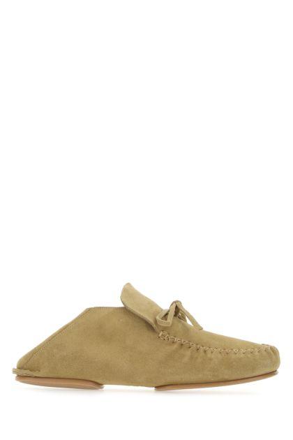 Beige suede Paula's Ibiza loafers
