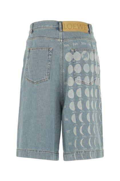 Printed denim Paula's Ibiza bermuda shorts