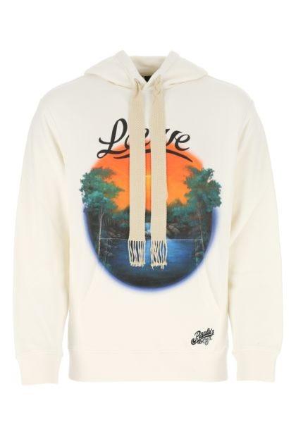 Ivory cotton Paula's Ibiza sweatshirt