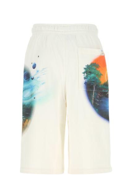Ivory cotton Paula's Ibiza bermuda shorts
