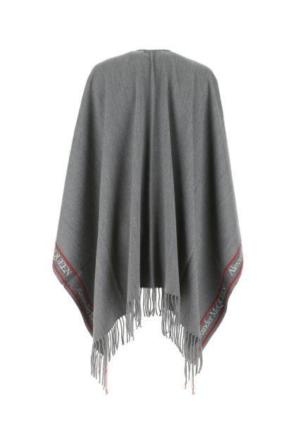 Dark grey wool blend cape