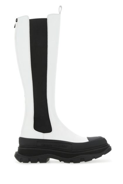 White leather Tread Slick boots