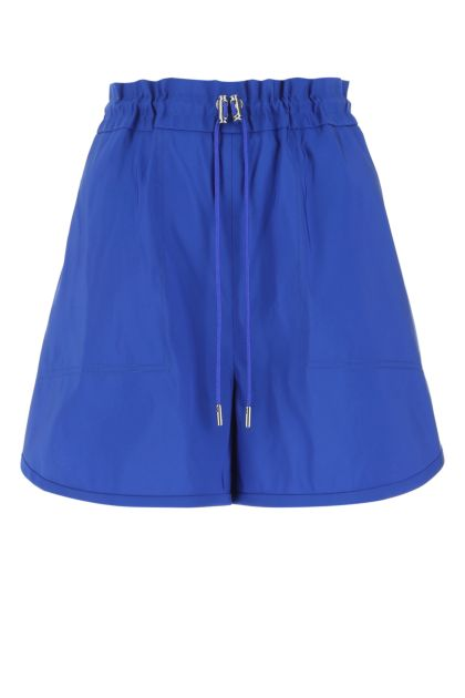 Electric blue polyester shorts