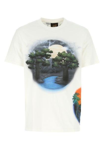 White cotton Paula's Ibiza t-shirt