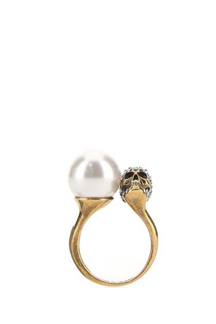 Gold brass Skull ring