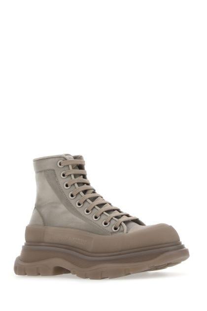 Dove grey mesh Tread Slick ankle boots