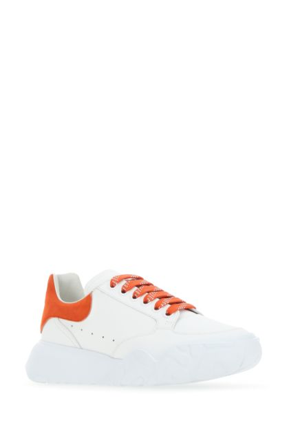White nappa leather Court sneakers