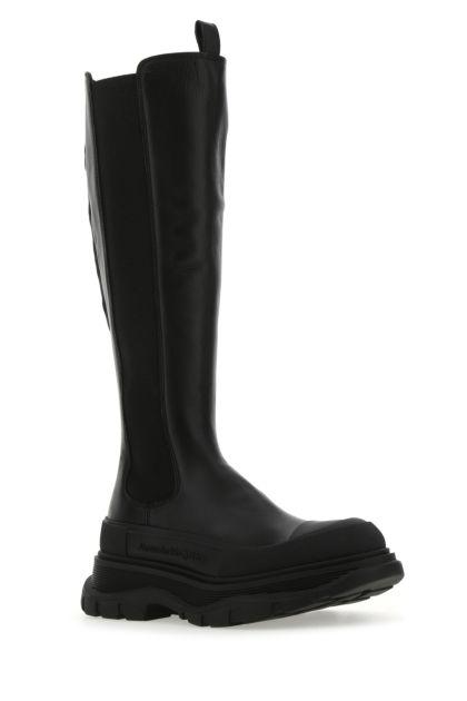 Black leather Tread Slick boots
