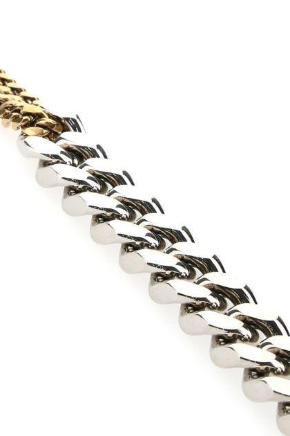 Two-tone metal bracelet