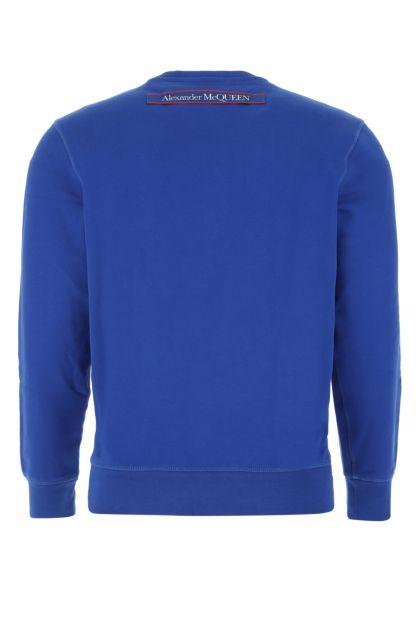 Electric blue cotton sweatshirt