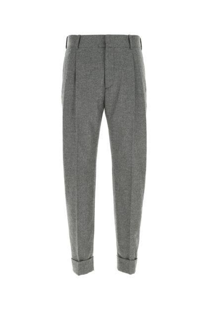 Melange grey wool pant