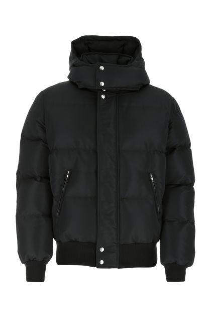 Black polyester padded jacket