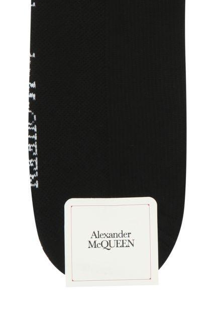 Two-tone stretch cotton blend socks