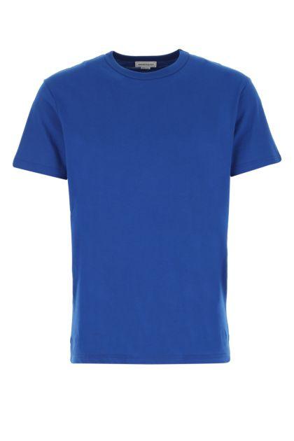 Electric blue cotton t-shirt