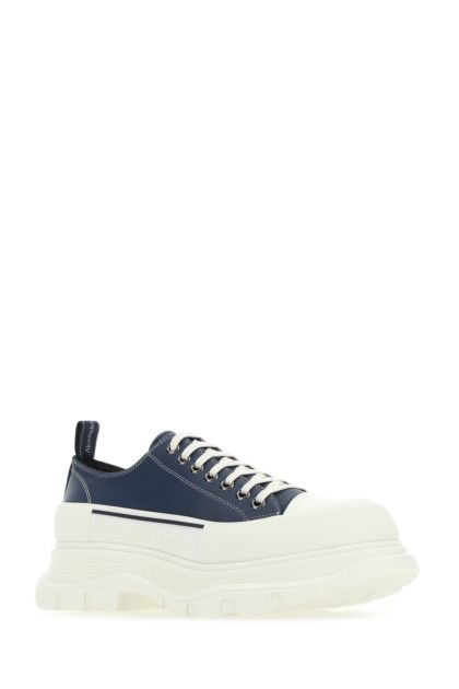 Navy blue leather Tread Slick sneakers