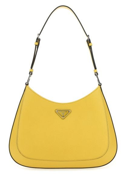 Yellow leather Cleo shoulder bag