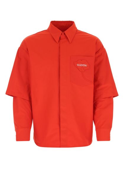 Red polyester shirt