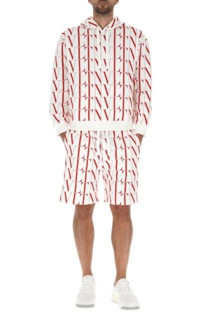 Printed cotton blend sweatshirt