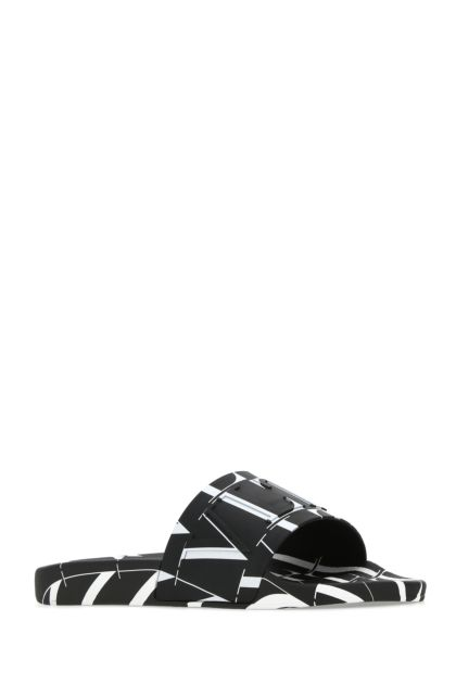 Printed rubber VLTN Times slippers