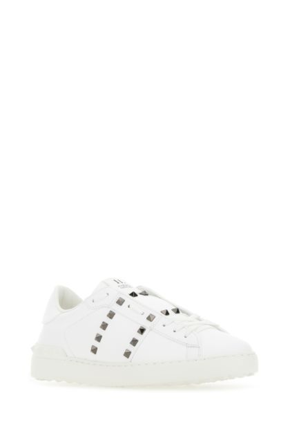 White leather Rockstud Untitled sneakers